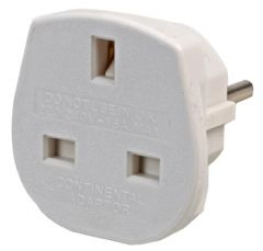 POWERCONNECTIONS 9906-W-16  Uk To Schuko White Travel Adapter 16Amp